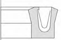 Reciprocating rod seal-Type V PJ